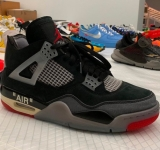 2020.09 OFF-WHITE x Air Jordan 4 Men Shoes AAA -SY (16)