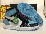 "(Final version)Authentic Air Jordan 1 ""UNC Patent "" GS- ZLDG"