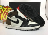 "2020.8 Normal Authentic quality and Low price Air Jordan 1 High ""Dark Mocha""Men And GS Shoes - LJR"