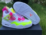 "2020.10 Super Max Perfect Air Jordan 4 ""Lemon Venom""Women Shoes - ZL"