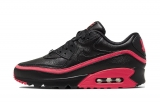 2020.10 Undefeated x Nike Perfect Air Max 90 Black Red Men And Women Shoes -LY (2)