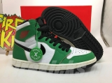 "2020.10  Authentic Air Jordan 1 High ""Lucky Green "" Men Shoes-ZL"