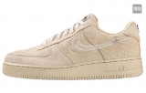 "2020.10 Stussy x  Authentic Nike Air Force 1 Low ""Fossil Stone""Men And Women Shoes -LY"