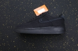 "2020.10 Stussy x Authentic Nike Air Force 1 Low ""Black Cool""Men And Women Shoes -JB (4)"