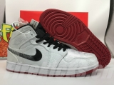 "2020.04 Edison Chen x Perfect Air Jordan 1  Mid ""Fearless"" Men Shoes -SY (7)"
