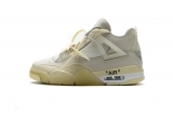 "2020.11 OFF-WHITE x Super Max Perfect Air Jordan 4 ""Sail""  Women  Shoes -LY"