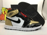 "2020.06 Normal Authentic quality and Low price Air Jordan 1 NRG""Gold Toe""Men  Shoes - LJR"