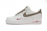 2020.11 Nike Super Max Perfect Air Force 1 Low Premium White Brown Men And Women Shoes (98%Authentic)-JB (84)