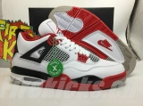 "2020.11 (Final version)Authentic Air Jordan 4 ""Fire Red""-ZL"