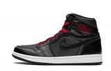 "2020.11 Normal Authentic quality and Low price Air Jordan 1 High ""Black Satin Gym Red""Men And GS Shoes - LJR"