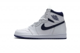 "2020.12 (better quality)Super Max Perfect Air Jordan 1 ""White Purple"" Men And Women Shoes(no worry!good quality,95%Authentic) -GET (17)"