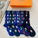 2021.3 (With Box) A Box of Hermes Socks -QQ (1)