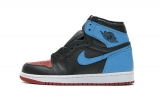 "2021.4 Authentic Air Jordan 1 High OG""UNC To Chicago""Men Shoes-LY"